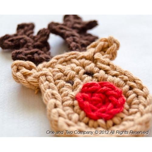 Reindeer Applique Crochet 278250c685b