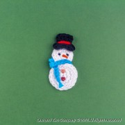 Snowman Applique Crochet