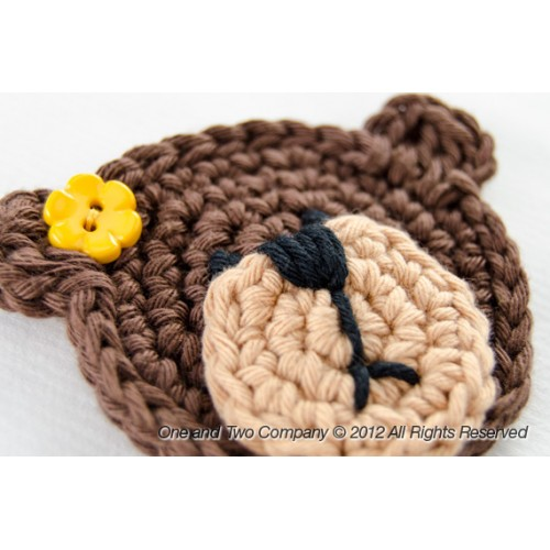 Teddy Bear Applique Crochet