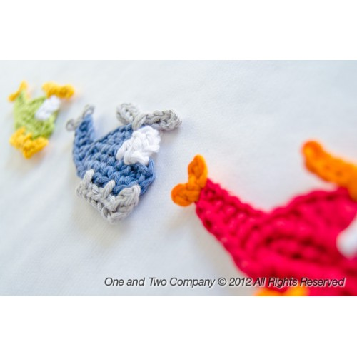 Small Helicopter Crochet Applique | AllFreeCrochet.com | 500x500