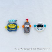 Robots Applique Crochet