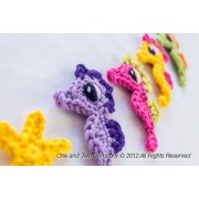 Seahorse and Little Starfish Applique Crochet