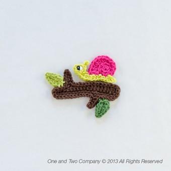 Snail and Branch Applique Crochet