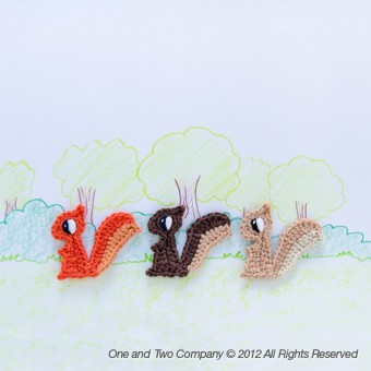 Squirrel Applique Crochet