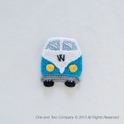 VW Camper Van Applique Crochet