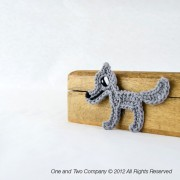 Wolf Applique Crochet