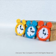 Alarm Clock Applique Crochet