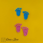 Baby Footprints and Flip Flops Applique Crochet