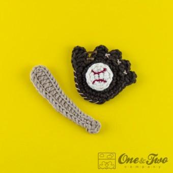 Baseball Set Applique Crochet