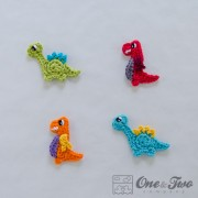 Dinos Applique Crochet