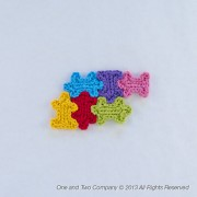 Puzzle Pieces Applique Crochet