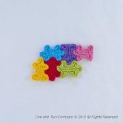 Puzzle Pieces Applique Crochet
