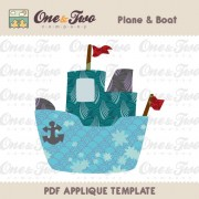 Plane & Boat Applique Template