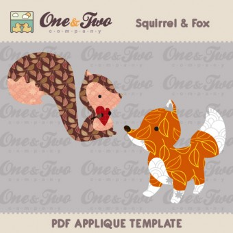Squirrel & Fox Applique Template