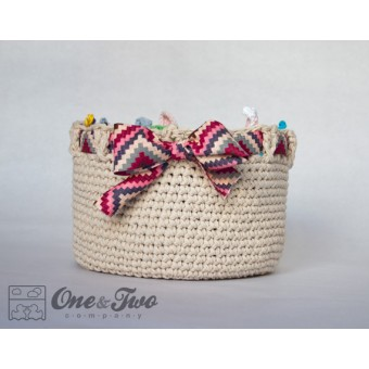 Adorable Big Basket Crochet Pattern