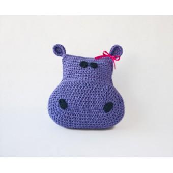 Hippo Pillow Crochet Pattern