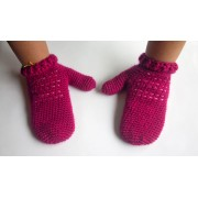 Winter Mittens with Backstitch Crochet Pattern