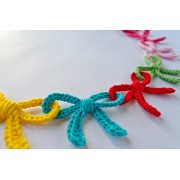 Garland of Colorful Bows Crochet Pattern