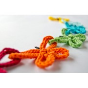 Garland of Colorful Butterflies Crochet Pattern