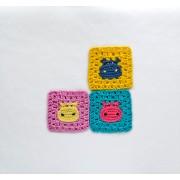 Hippo Granny Square Crochet Pattern
