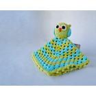 Owl Security Blanket Crochet Pattern