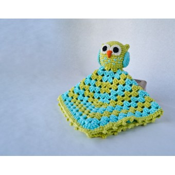 Owl Security Blanket Crochet Pattern
