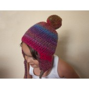 Pompon Hat with Earflap Crochet Pattern