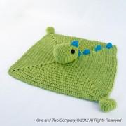 Dino Security Blanket Crochet Pattern