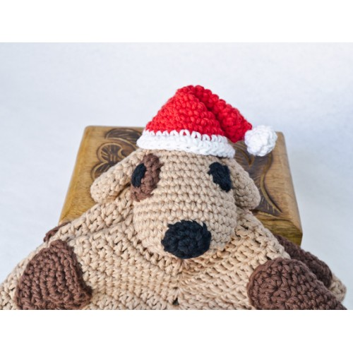 Crochet Pattern For Dog Blanket : Puppy Dog Security Blanket Crochet Pattern