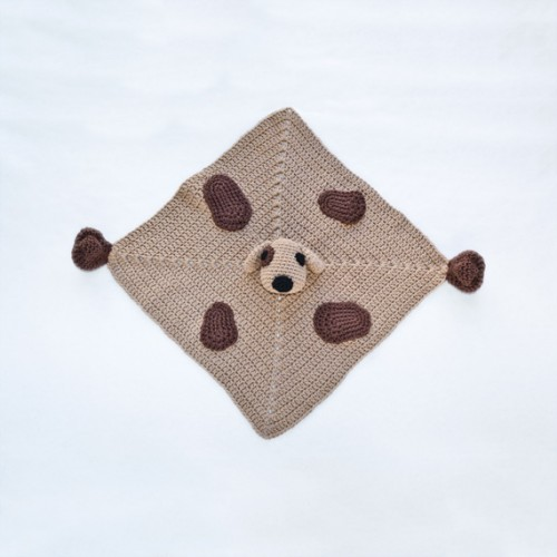 Crochet Pattern For Dog Blanket : Puppy Dog Security Blanket Crochet Pattern