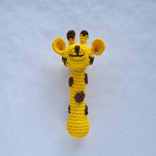 Free Crochet Pattern Baby Rattle : Giraffe Rattle Crochet Pattern