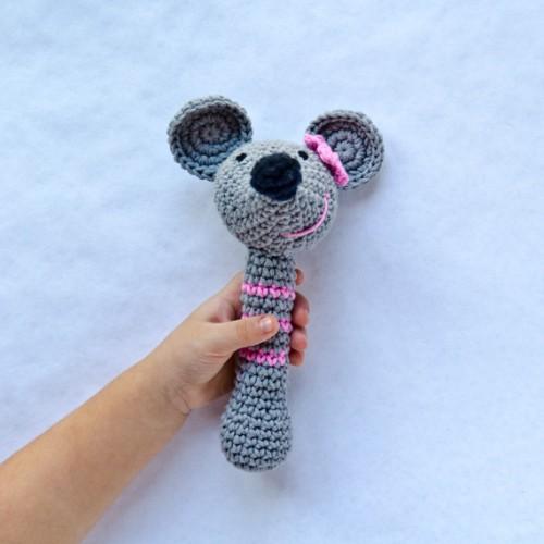 Amigurumi Rattle Pattern : Mouse Rattle Crochet Pattern