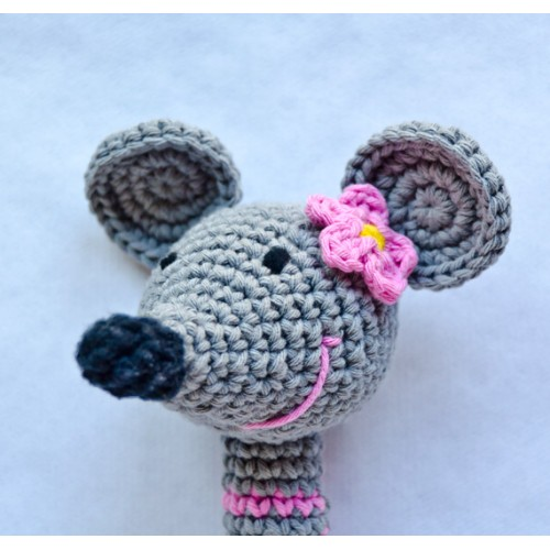 Mouse Rattle Crochet Pattern