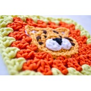 Tiger Granny Square Crochet Pattern