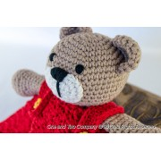 Teddy Bear Security Blanket Crochet Pattern