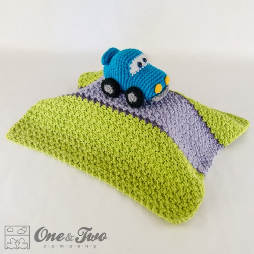 Crochet Pattern For Baby Security Blanket : Racing Car Security Blanket Crochet Pattern