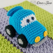 Racing Car Security Blanket Crochet Pattern