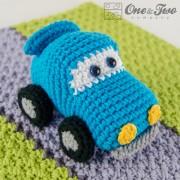 Racing Car Security Blanket Crochet Pattern