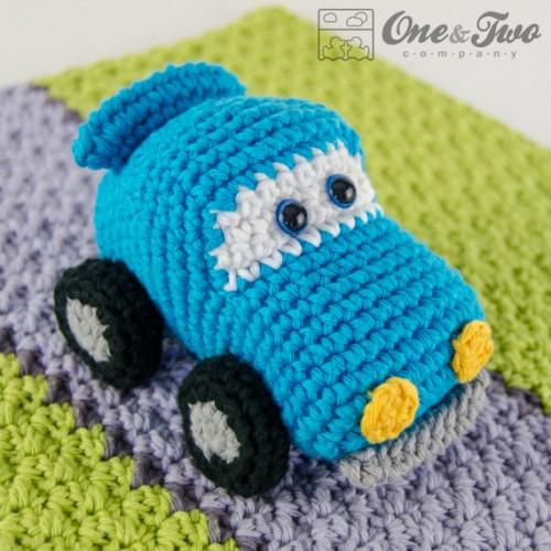 Amigurumi Free Pattern Car : Racing Car Security Blanket Crochet Pattern