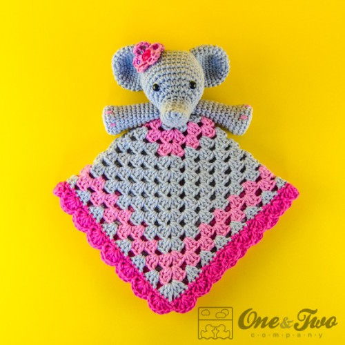 Crochet Pattern For Elephant Blanket : Elephant Security Blanket Crochet Pattern