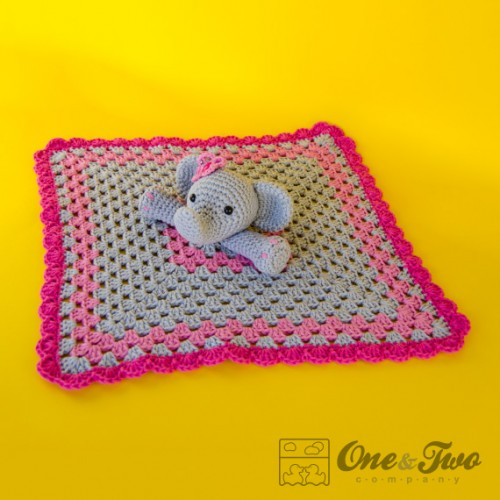 Crochet Elephant Blanket : Elephant Security Blanket Crochet Pattern