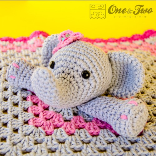 Amigurumi First Toy Elephant Crochet Security Blanket Pattern | 500x500