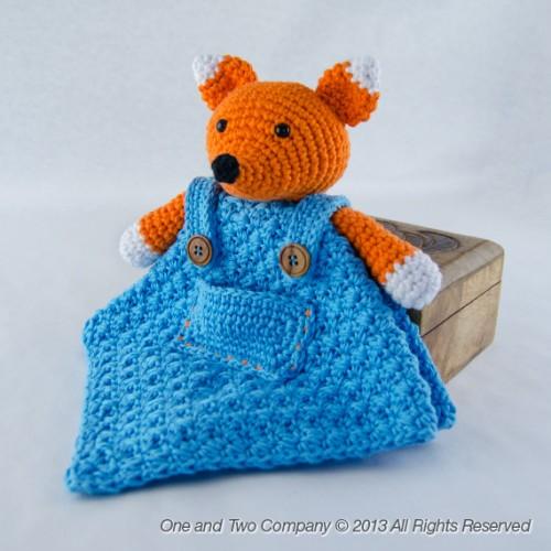 Free Crochet Fox Blanket Pattern : Flynn the Fox Security Blanket Crochet Pattern