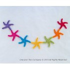 Garland of Colorful Starfishes Crochet Pattern