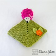 Hedgehog Security Blanket Crochet Pattern