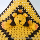 Lion Security Blanket Crochet Pattern