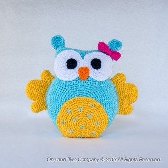 Owl Pillow Crochet Pattern