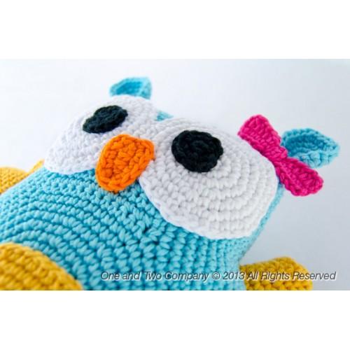 Free Crochet Owl Cushion Pattern : Owl Pillow Crochet Pattern