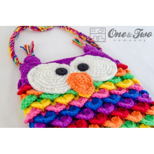 Free Crochet Patterns For Owl Purses : Colorful Owl Purse Crochet Pattern