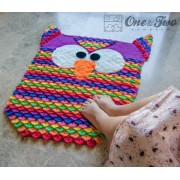 Colorful Owl Rug Crochet Pattern